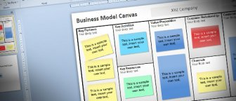 Free Business Model Canvas Template for PowerPoint 2010