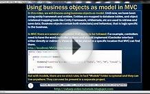 Part 11 Using business objects as model in mvc